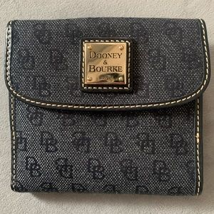 NWT Dooney & Bourke Signature Small Flap wallet